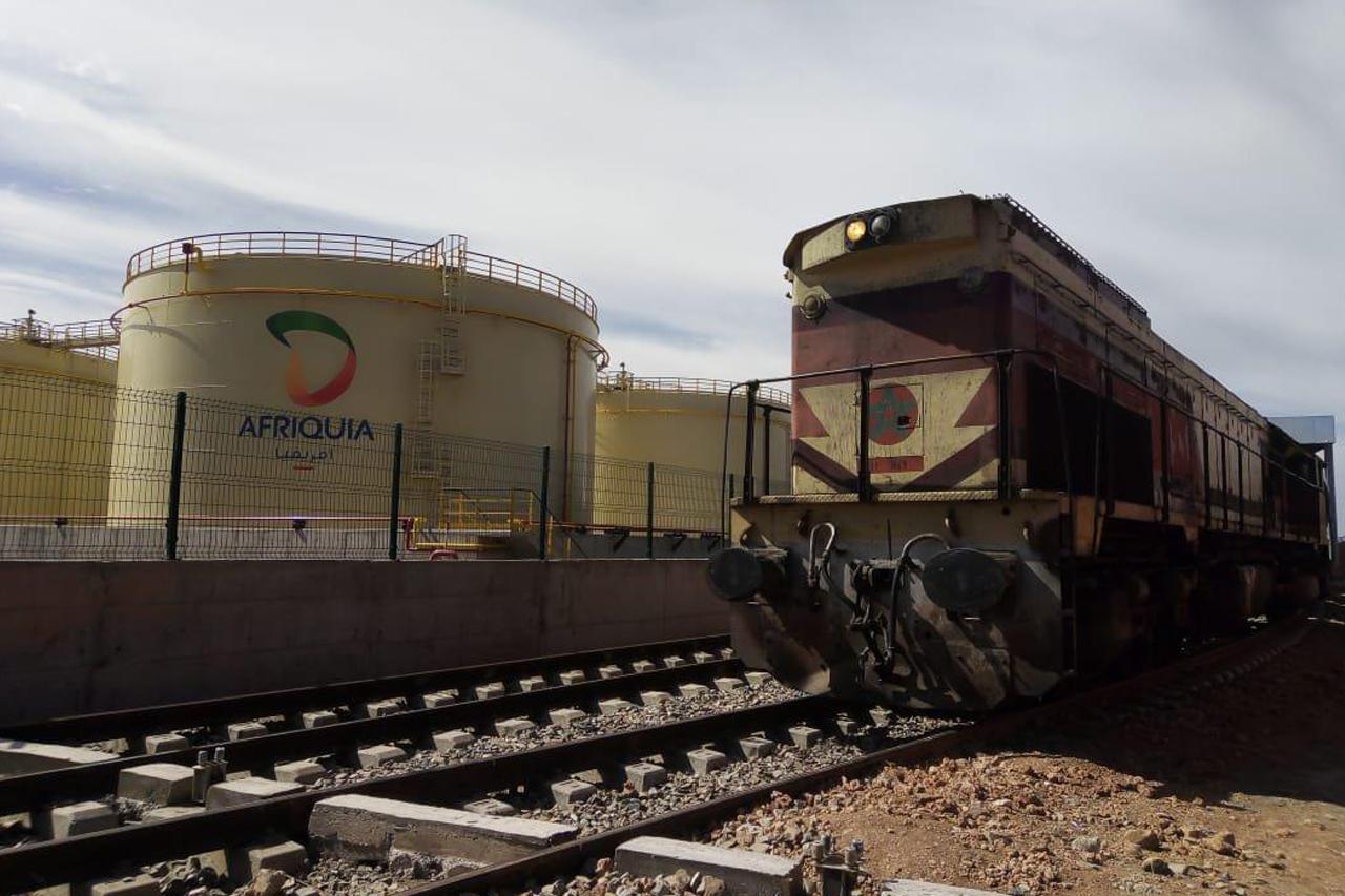 AFRIQUIA : Premier train commercial des hydrocarbures entre Jorf Lasfar et Sidi Bou Athmane